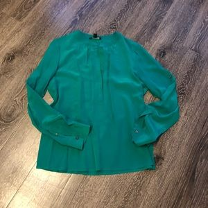 Silk bright green blouse